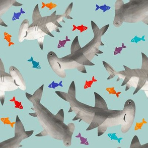 1223 SHARKS COLOR FISH