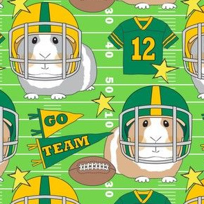 football guinea pigs green and gold