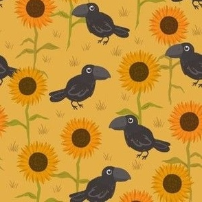 Sunflower Field Crows