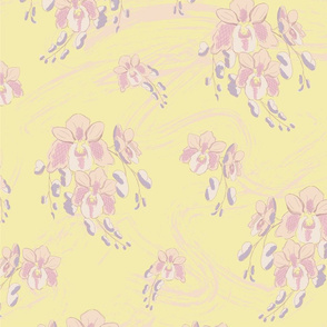 Spring Orchids in Pastel - large