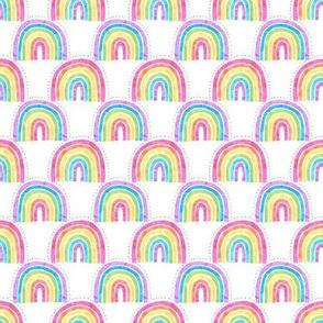 rainbow arch white super mini