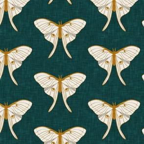 luna moth -  v1 gold on green - LAD20