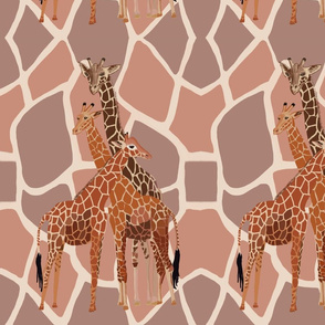 Giraffe Family by DulciArt,LLC