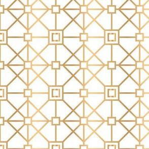 Rhombus Gold Geometric