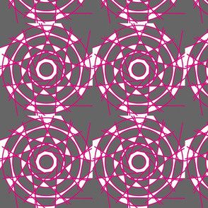Magenta geometric star