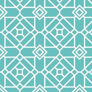 Green Square Modern Geometric
