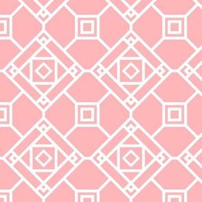 Pink Square Geometric