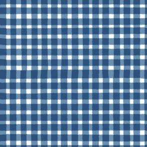 Gingham Check Classic Blue