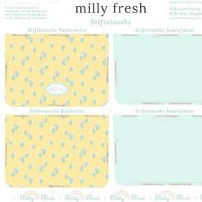 milly mint pencil case and small purse pattern milly fresh