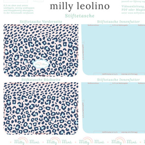 milly mint pencil case and small purse pattern milly leolino
