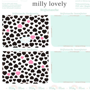 milly mint pencil case and small purse pattern milly lovely