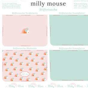 milly mint pencil case and small purse pattern milly mouse