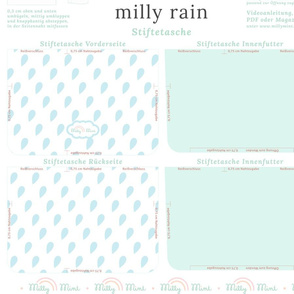 milly mint pencil case and small purse pattern milly rain