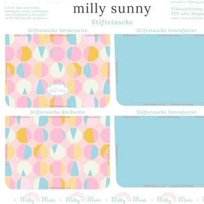 milly mint pencil case and small purse pattern milly sunny