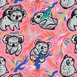 koala forest pink