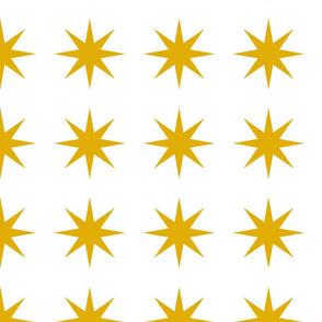starbursts in mustard yellow