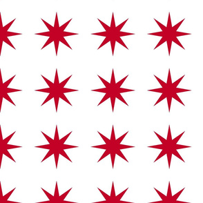 starbursts in red