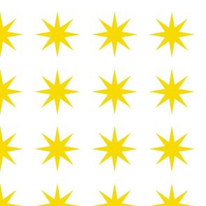 starbursts in yellow