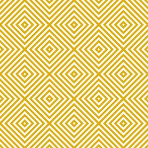 geometric diamonds in yellow mustard gold