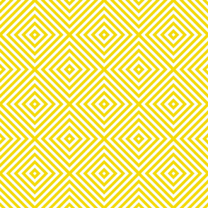 geometric diamonds in yellow