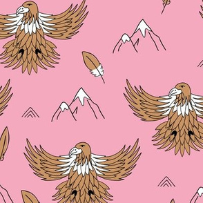 Fly like an eagle national parks and wild life birds and spring mountain peaks pink camel