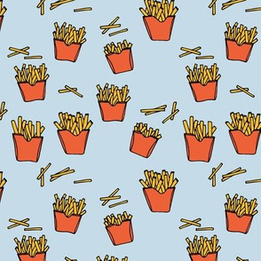 Little fries food lovers french fries potato chips after school snack kids blue red boys