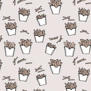 Little fries food lovers french fries potato chips after school snack soft pastel neutral nursery design