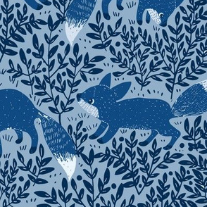 BLUE FOXES 4 COLORS