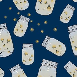 Summer Fireflies in Mason Jars