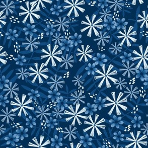 Floral Melody in Classic Blue