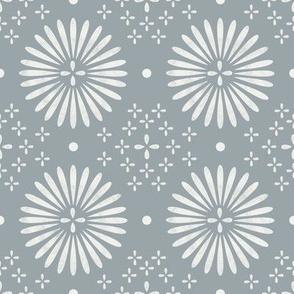 boho sun fabric - bohemian fabric, mudcloth fabric, gender neutral fabric, baby bedding fabric - slate blue