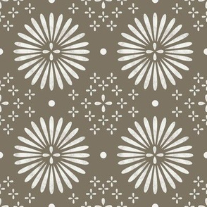 boho sun fabric - bohemian fabric, mudcloth fabric, gender neutral fabric, baby bedding fabric - khaki