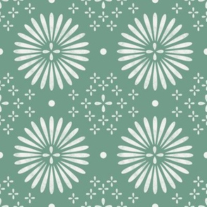 boho sun fabric - bohemian fabric, mudcloth fabric, gender neutral fabric, baby bedding fabric - jade