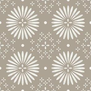 boho sun fabric - bohemian fabric, mudcloth fabric, gender neutral fabric, baby bedding fabric - fossil