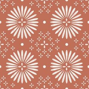 boho sun fabric - bohemian fabric, mudcloth fabric, gender neutral fabric, baby bedding fabric - clay