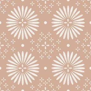 boho sun fabric - bohemian fabric, mudcloth fabric, gender neutral fabric, baby bedding fabric - sandy