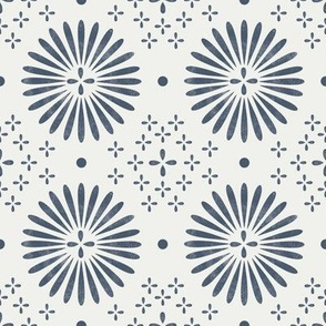 boho sun fabric - bohemian fabric, mudcloth fabric, gender neutral fabric, baby bedding fabric - indigo
