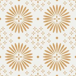 boho sun fabric - bohemian fabric, mudcloth fabric, gender neutral fabric, baby bedding fabric - ochre