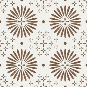 boho sun fabric - bohemian fabric, mudcloth fabric, gender neutral fabric, baby bedding fabric - brown