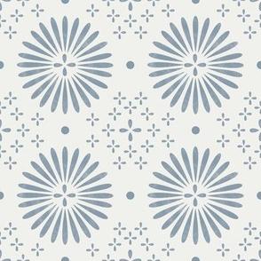 boho sun fabric - bohemian fabric, mudcloth fabric, gender neutral fabric, baby bedding fabric - blue