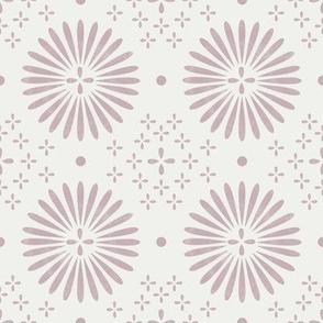 boho sun fabric - bohemian fabric, mudcloth fabric, gender neutral fabric, baby bedding fabric - light mauve