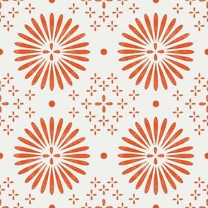 boho sun fabric - bohemian fabric, mudcloth fabric, gender neutral fabric, baby bedding fabric - orange