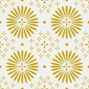 boho sun fabric - bohemian fabric, mudcloth fabric, gender neutral fabric, baby bedding fabric - mustard