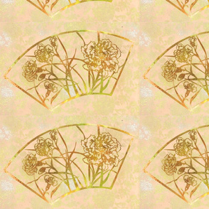 carnation fan in gold 2