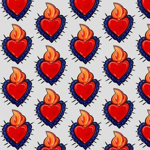 Flaming Valentine Heart
