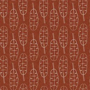 banana leaf - tropical leaves - rust  - LAD20