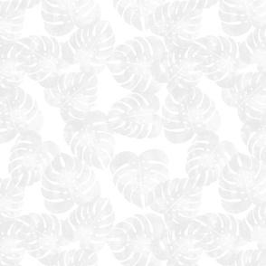 monstera leaves - lightest grey - LAD20