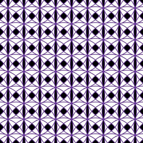 Purple, black and white geometric
