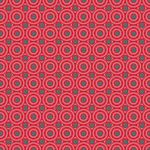 Red and grey circles