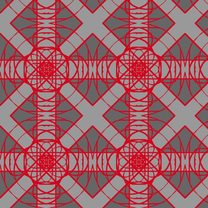 Red and grey Geometric
